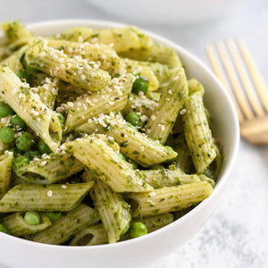 Whole Wheat Penne With Pesto & Spinach