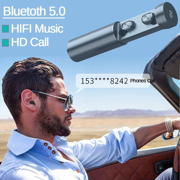 Capsule Bluetooth Headphones - GadgetDrawer