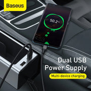 AUTO CAR SEAT GAPS ORGANISER - STORAGE BOX  CUP-PHONE HOLDER WITH DUAL-PORT USB CHARGING - GadgetDrawer