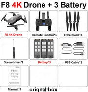 F8 Drone 4k HD Dual Camera 1080p HD Video Recording Optical Flow and One Key Return by GPS - GadgetDrawer