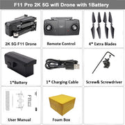 F11 Folding body Wifi Drone 5G GPS FPV  1080P Camera Video resolution 120 wide angle distance - GadgetDrawer