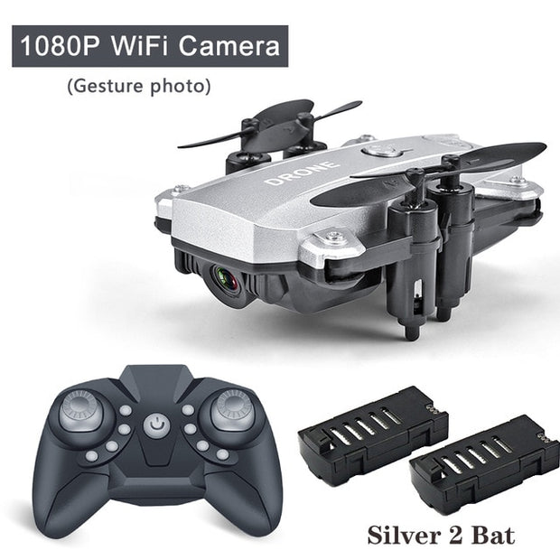 Mini Drone Selfie RC Quadcopter Camera HD 1080P Wifi FPV Drone Fold able Altitude Hold RC Helicopter Drones Professional Toy - GadgetDrawer