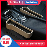 Car Seat Gap Storage Box Cup PU Leather - GadgetDrawer