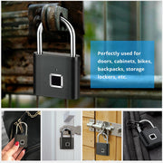 Keyless Fingerprint Smart Padlock - GadgetDrawer