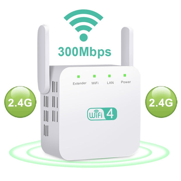 Wi-Fi Range Extender 2,4G 5Ghz Signal Long Range Extender - Coverage up to 1000sq.ft. and 10 devices with Wireless Signal Booster and Repeater (up to 300Mbps Speed) - GadgetDrawer