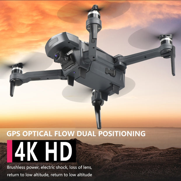 NEW 2020 GPS Drone K20 5G- WiFi- 4K HD wide-angle Camera, RC four-axis professional folding drones flying 1.8km for 25min - GadgetDrawer