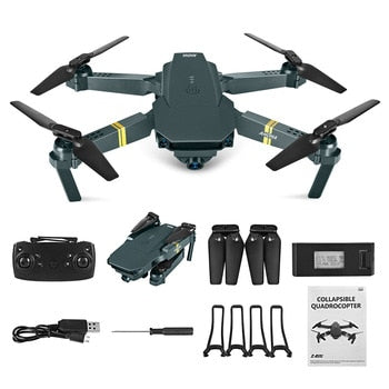 WIFI FPV Drone 4K With Camera Wide Angle HD 1080P Camera Hight Hold Mode Foldable Arm RC Quadcopter Drone Pro RTF Dron For Gift - GadgetDrawer
