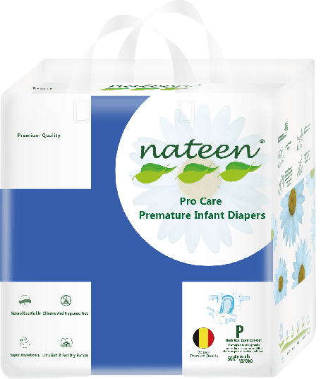 Nateen Premium Premature Diapers (up to 3 kg | up to 6 lbs)