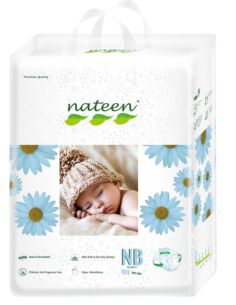 Nateen Premium Diapers New Born (up to 5 kg | up to 10 lbs)