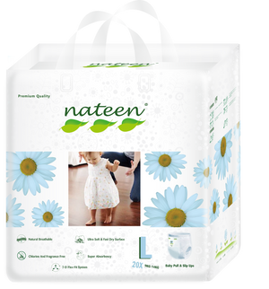Nateen Premium Pull Up Diapers L (9 - 14 kg | 20 - 31 lbs)