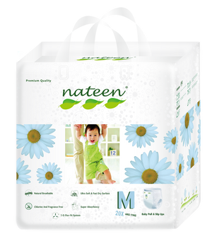 Nateen Premium Pull Up Diapers M (6 - 10 kg | 13 - 22 lbs)