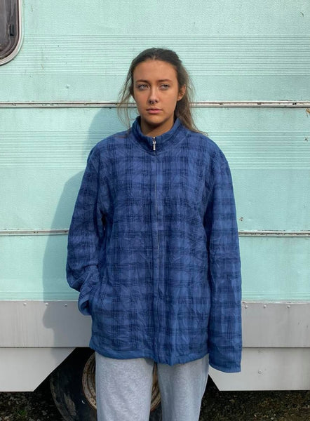 Oversized Checkered Fleece L