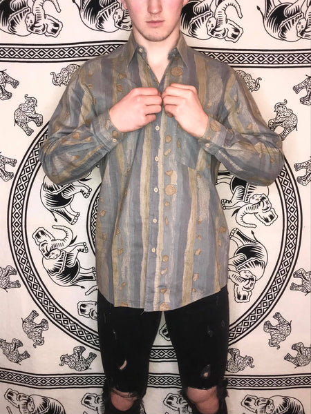 SeidenSticker Patterned Shirt (L)