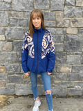 Patterned Shell Jacket M