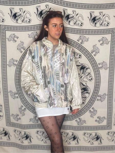Patterned Shell Jacket M/L
