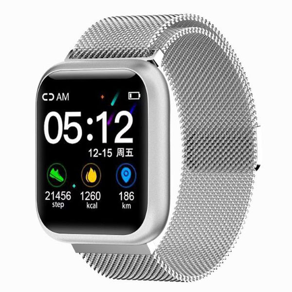 Smart Watch with Exercise Heart Rate Detection Mode & Metal Strap