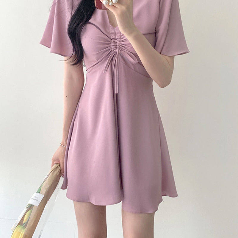 Sweet Pastel Bow Dress