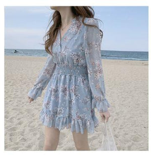 Girly Floral Ruffled Dress