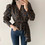 Pretty Floral Puff Sleeve Blouse