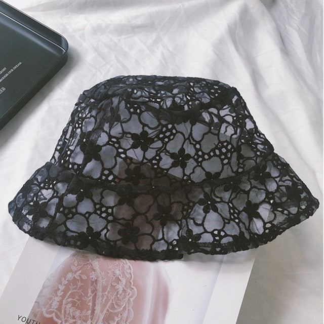 Floral Lace Summer Bucket Hat