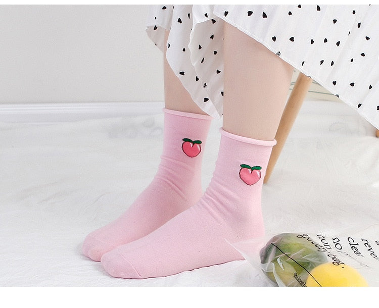 Kawaii Cartoon Fruits Daily Socks
