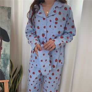 Sweet Strawberry Sleep Set