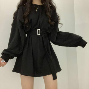 Girl Crush Loose Belted Sweater Dress