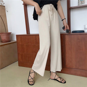 Autumn Straight Leg Casual High Waist Pants