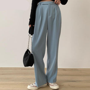 Autumn Korean High Waist Casual Trousers Pants