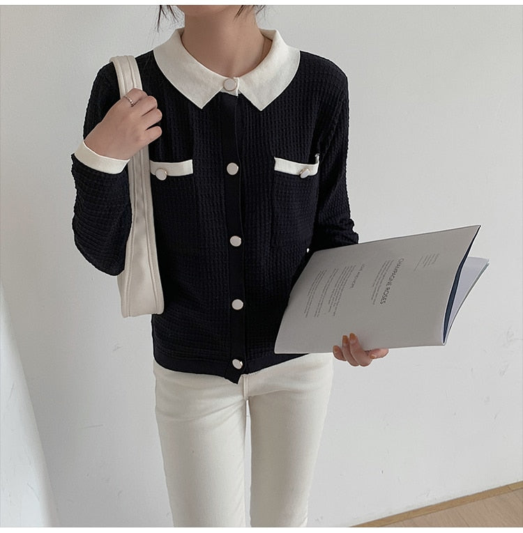 Be Myself Vintage Button Up Knit Cardigan