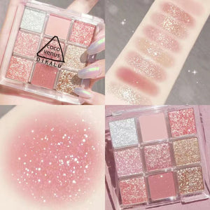 9 Colors Fashion Glitter & Matte Eyeshadow Palette