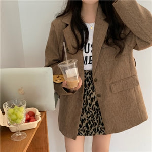Autumn Chic Belted Women's Blazer Coat