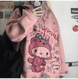Grunge Hello Kitty Thick Hoodie