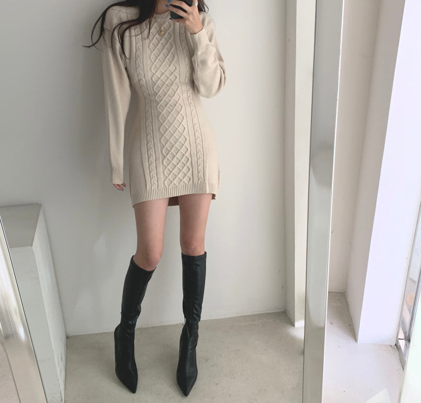 Crush on You Cozy Sweater Dress