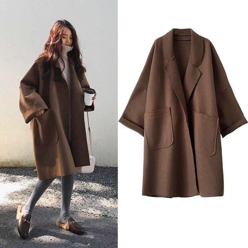 Autumn Winter Thick Wool Coat