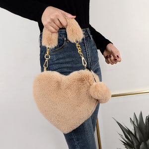 Sweet Heart Plush Shoulder Bag