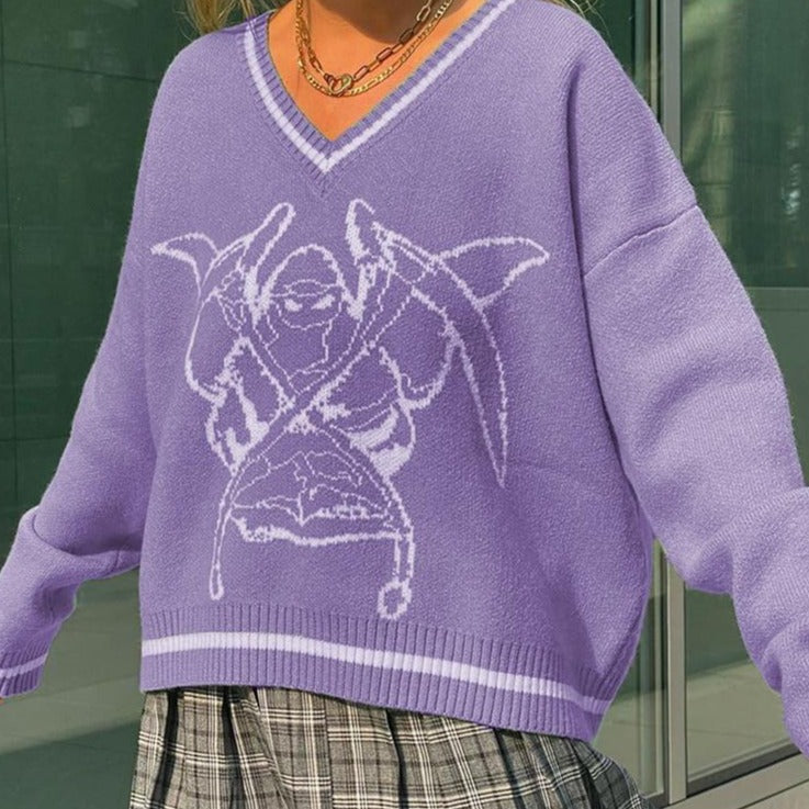 Y2K Harajuku Aesthetic Graphic Pullover