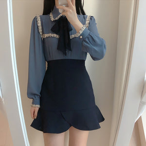 Korean Fashion Chiffon Blouse