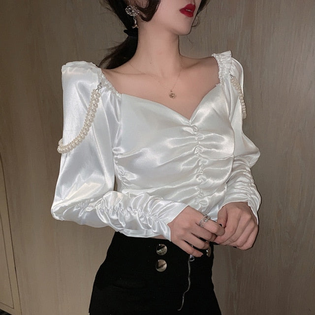 Born to Shine Elegant Pearl Blouse