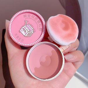 2 in 1 Donut Highlighter Blush With Makeup Puff