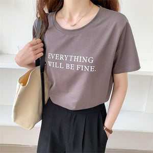 Everything Will Be Fine Printed Top