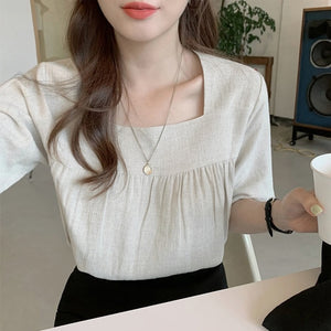 Casual Chic Square Collar Blouse