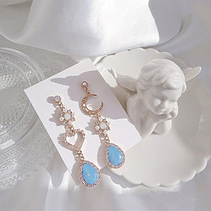 Pastel Dreams Rhinestone Drop Earrings