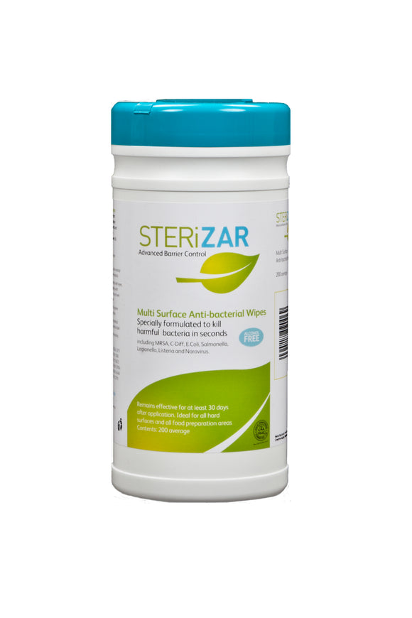 SteriZar Multi Surface Antibacterial Wipes (200)