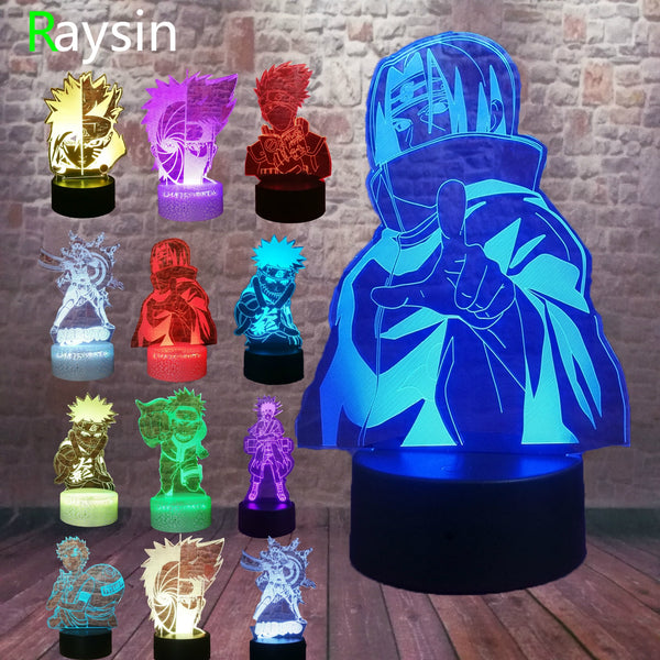 3D Multi Color LED Naruto Desk Light