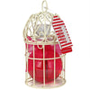 Winter In Venice simple French Linen Mini Bird Cage