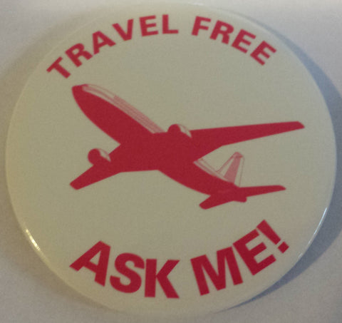 "3"" Travel Free Ask Me Button"