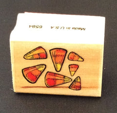 Halloween Candy Corn Rubber Stamp