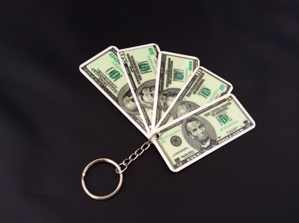 Assorted Denomination Money Keychain