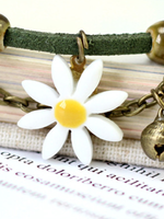 Adjustable Casual Alloy Daisy Bracelets